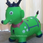 ตุ๊กตายางรูปสัตว์เด้งดึ๋ง รูปช้างเขียว