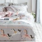 ผ้าปูที่นอน การ์ตูนลายม้า