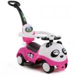 รถขาไถแพนด้า 2 in1 (รถขาไถ +รถเข็น) สีชมพู ฟรีค่าจัดส่ง