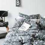 ผ้าปูที่นอน ลายตัวอักษร Multivariate