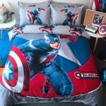 ผ้าปูที่นอน ลายกัปตันอเมริกา Captain America Bedding Set