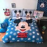 ผ้าปูที่นอน ลายมิคกี้เม้าส์ สีฟ้า-น้ำเงิน Mickey Mouse Bedding