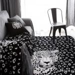 พรมนั่งเล่น ลายการ์ตูน ลายเสือ ขาว-ดำ