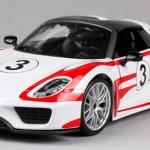 ขาย พรีออเดอร์ โมเดลรถเหล็ก โมเดลรถยนต์ Porsche 918 รถแข่ง 1:24 มี โปรโมชั่น