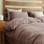 ผ้าปูที่นอน สีพื้น สีกะปิ เนื้อผ้าถักนิตติ้ง KnittedCotton