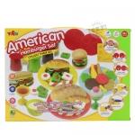 ชุดแป้งโดว์พร้อมอุปกรณ์แฮมเบอร์เกอร์ Ameriecan&Hamburger Set
