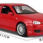 ขาย พรีออเดอร์ โมเดลรถเหล็ก โมเดลรถยนต์ Volkswagen Golf R32 แดง 1:24 สเกล มี โปรโมชั่น