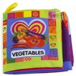 หนังสือผ้าเรียนรู้ผัก Vegetables