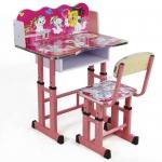 โต๊ะเขียนหนังสือเด็ก+เก้าอี้ สีชมพู