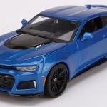 ขาย พรีออเดอร์ โมเดลรถเหล็ก โมเดลรถยนต์ 2017 Chevrolet ZL1 น้ำเงิน 1:24 มี โปรโมชั่น