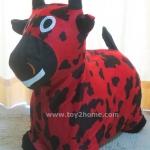 ตุ๊กตายางหุ้มผ้า (ถอดได้) รูปวัวแดง