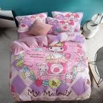 ผ้าปูที่นอนลายเมโลดี้ Melody สีหวาน ผ้ากำมะหยี่