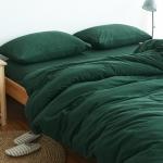 ผ้าปูที่นอน สีพื้น สีเขียวเข้ม เนื้อผ้าถักนิตติ้ง KnittedCotton