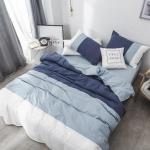 ผ้าปูที่นอนสีพื้น ไล่ระดับเฉดสี โทนสีฟ้า-น้ำเงิน