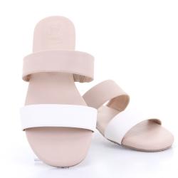 Totty Sandal two tone (Cream) รองเท้าแตะ แบบสวม 2สี สีครีม