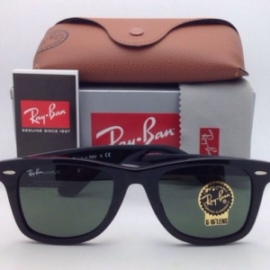 Ray-Ban RB2140F 901 Wayfarer Original G-15 lenses