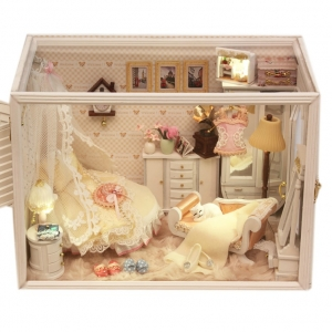 DIY high-end Perfect Bride house model .. ห้องนอนวินเทจสีสะอาดตา