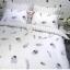 ผ้าปูที่นอน ลายขนนก ลายจุดสีเทา-ขาว thumbnail 5