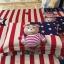 ผ้าปูที่นอนลายหมี 3D ธงชาติสหรัฐ USA thumbnail 3