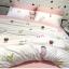 ผ้าปูที่นอน ลายการ์ตูนเด็ก ลายทางสีชมพู-ขาว thumbnail 4