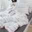ผ้าปูที่นอนลายตัวหนังสือ ลายสก๊อต สีขาว-ดำ thumbnail 10