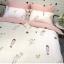 ผ้าปูที่นอน ลายการ์ตูนเด็ก ลายทางสีชมพู-ขาว thumbnail 5