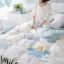 ผ้าปูที่นอน ลายดอกไม้ ฟ้า-เทา สีพาสเทล thumbnail 2