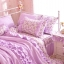 ผ้าปูที่นอนวินเทจ สีม่วง สไตล์เกาหลี เจ้าหญิง thumbnail 2