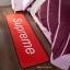 พรมเช็ดเท้า ลาย Supreme สีแดง thumbnail 1