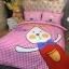ผ้าปูที่นอนลายกระต่ายน้อย Have Fun ลายตาราง สีแดง-ชมพู thumbnail 3