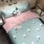 ผ้าปูที่นอน ลายการ์ตูนรูปดอกไม้-แครอท สีฟ้า-ชมพู thumbnail 1