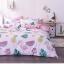 ผ้าปูที่นอน ลายนกฟลามิงโก้ แตงโม สีชมพู-ขาว thumbnail 3
