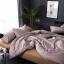 ผ้าปูที่นอน ลายเส้นลายตาราง สีน้ำตาล-ส้ม thumbnail 1