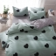 ผ้าปูที่นอนลายหัวใจ พื้นสีเขียว-เทา thumbnail 1