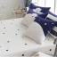 ผ้าปูที่นอนลายหมี สีขาว-น้ำเงิน ลายจุดรูปดาว thumbnail 2