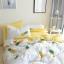ผ้าปูที่นอนลายสัปปะรด สีเหลือง-ขาว thumbnail 1