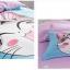 ผ้าปูที่นอน ลายแมวจี้ สีฟ้า-ชมพู thumbnail 2