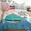 ผ้าปูที่นอน ลายปลาวาฬ สีฟ้า-ชมพู thumbnail 1