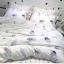 ผ้าปูที่นอน ลายขนนก ลายจุดสีเทา-ขาว thumbnail 4
