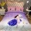 ผ้าปูที่นอนลายการ์ตูน ผู้หญิงขี่ม้า สีม่วง-ชมพู thumbnail 1