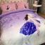 ผ้าปูที่นอนลายการ์ตูน ผู้หญิงขี่ม้า สีม่วง-ชมพู thumbnail 2