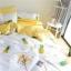 ผ้าปูที่นอนลายสัปปะรด สีเหลือง-ขาว thumbnail 2