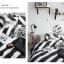 ผ้าปูที่นอน ลายทางสีขาว-ดำ ลายกราฟฟิก thumbnail 4