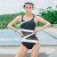 ชุดว่ายน้ำวันพีช สีดำ แต่งแถบสีขาว ซีทรูช่วงเอว thumbnail 1