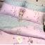 ผ้าปูที่นอน ลายม้ายูนิคอน สีชมพู-เทา หวานๆ thumbnail 2