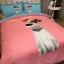 ผ้าปูที่นอนลายหมา 3D สีชมพู-ฟ้า thumbnail 3