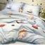 ผ้าปูที่นอน ลายการ์ตูนแมว สีฟ้า thumbnail 3