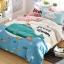 ผ้าปูที่นอน ลายปลาวาฬ สีฟ้า-ชมพู thumbnail 2
