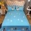 ผ้าปูที่นอนลายหมา 3D สีชมพู-ฟ้า thumbnail 4