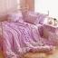 ผ้าปูที่นอนวินเทจ สีม่วง สไตล์เกาหลี เจ้าหญิง thumbnail 1
